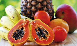 frisches Obst-Vielfalt-Angebot-Küchee