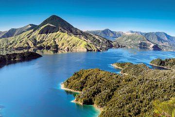 Neuseeland-Berge-Blick