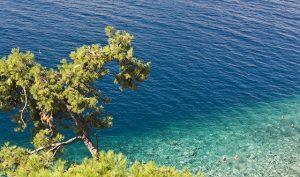 Meer-Wasser-Baden-Blau
