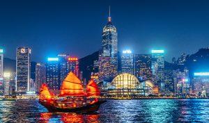 Hongkong-Nacht-Kulisse-Meer