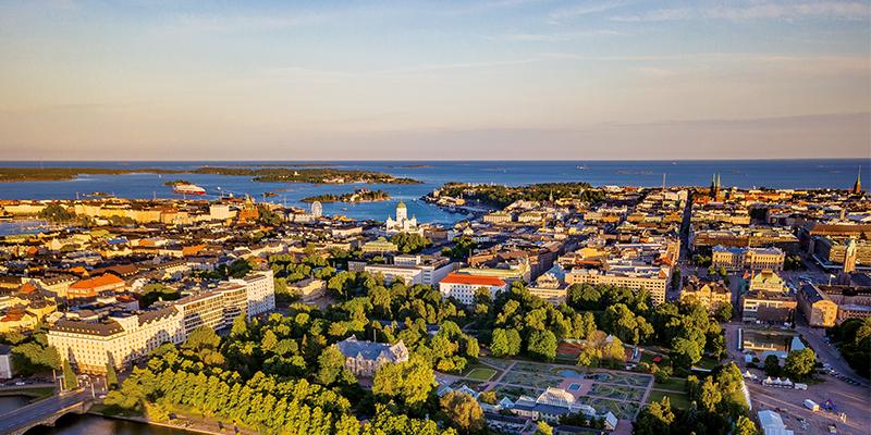 Stadtansicht von oben-Helsinki-Panorama