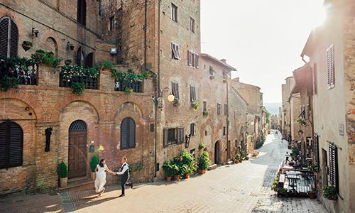 Italien-Altstadt-Häuser-Gasse