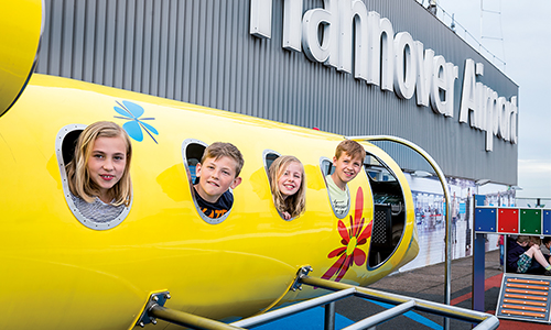 Ausstellung Welt der Luftfahrt-Kinder im Flugzeug-Erleben