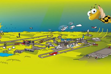 Illustration-Hannover Airport-Follow bee