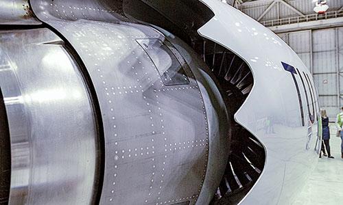 Boeing 7373-Triebwerk-Durchmesser