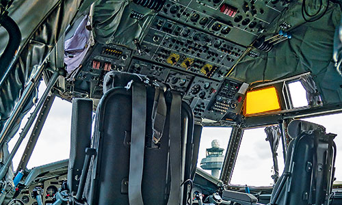 Transall-Innenleben-Cockpit