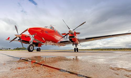 Vermessungsflugzeug-Beechcraft-Landesicheheit