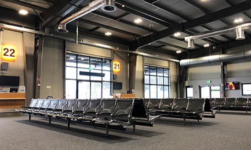 Wartebereich-Umbau-Terminal D