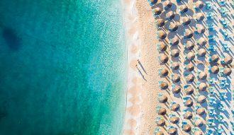 Blick-Griechenland-Insel-Sommer-Strand