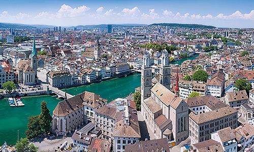 Zürich-Luftbild-Kirchen