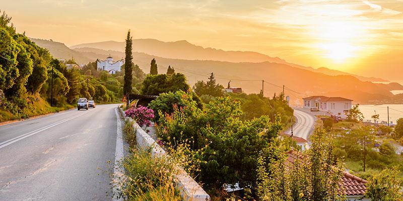 Samos-Küste-Autofahrt