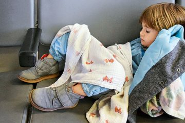 Fliegen-Jetlages-Schlafen