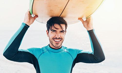 Surfen-Starnd-Samos-Surfbrett