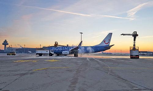 Enteisung-Flugzeug-Stellplatz